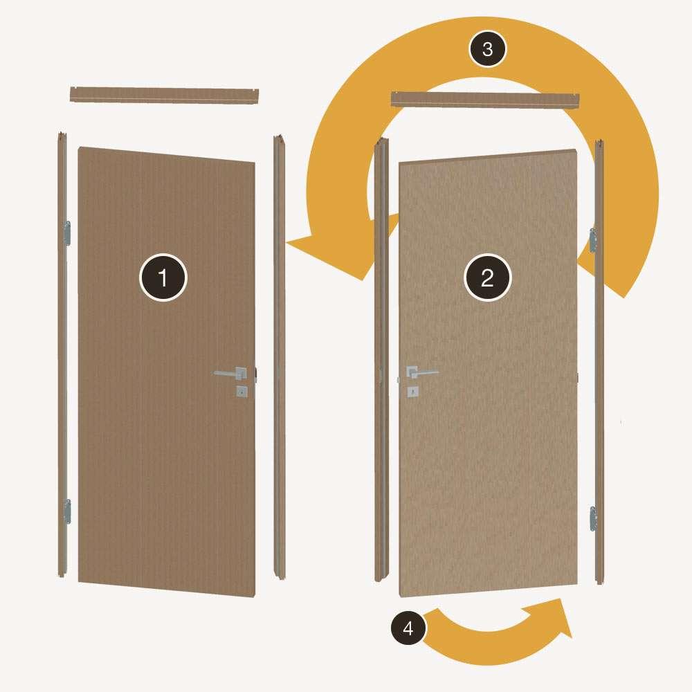 Porte Interne Color Ciliegio rever | honeycomb laminated interior doors | braga s.p.a.