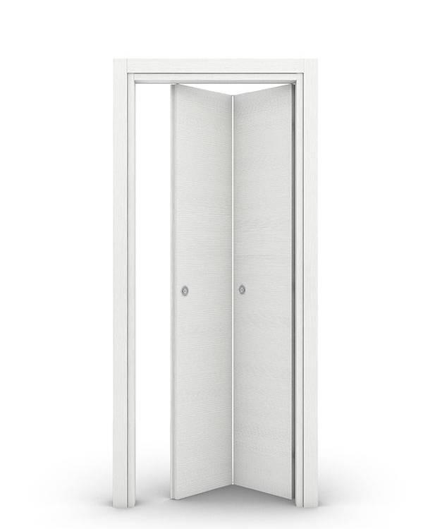 Porte interne a libro simmetriche di colore bianco