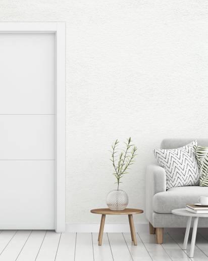 Porte interne laccate bianche a battente